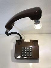Coole Telefonlampe Retro Licht Geschenk Leuchte 70er 80er Jahre Tischlampe Braun