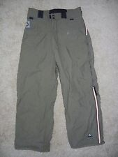 BURTON Olive Army Green Waterproof SNOW PANTS Ski Snowboard Size Adult MEDIUM