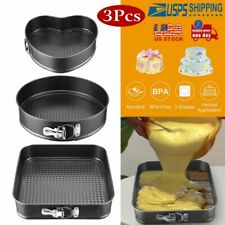 """3pcs Spring Form Cake Non-Stick Coating Pan Great for Baking 9"""" -11"""" Leakproof"""