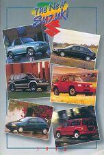 Suzuki Prospekt Auto GB 1996 brochure X-90 Swift Esteem Autoprospekt Broschüre