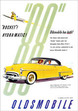 OLDSMOBILE 88 HOLIDAY COUPE RETRO A3 POSTER PRINT FROM ADVERT 1950