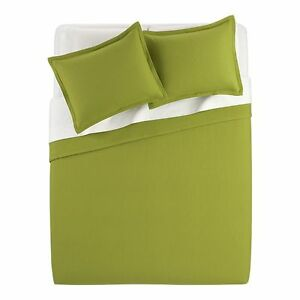 Crate & and Barrel AVERY GREEN- F/Q Coverlet/Spread - NWOT- SOLID/TEXURAL- NEW