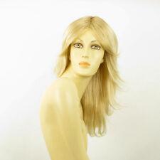 Perruque femme mi-longue blond doré méché blond très clair ZOE 24BT613