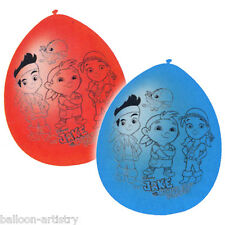 6 Jake And The Never Land Pirates Birthday Party Blue Red Hanging Latex Balloons