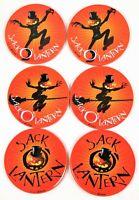 Halloween Jack O`lantern Set of 6 Plates Rae Pumpkin Vintage Signed Pumpkins