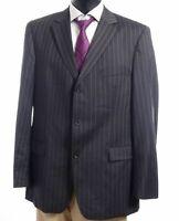 HUGO BOSS Sakko Jacket Scorsese Gr.54 grau Nadelstreifen Einreiher 3-Knopf -S437