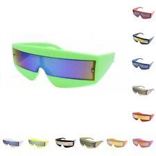 Sci Fi 80s Visor Wrap Around Sunglasses Robot/Cyclops/Lady Gaga/Daft Punk/Neon/M