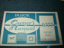 1977 Buick Century Regal Factory Original Owners Manual Nice Complete