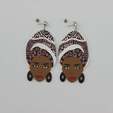 Vivacious Voodoo Queen Statement Acrylic Earrings Marie Laveau Witch Valentines