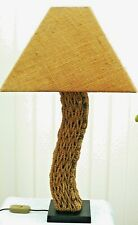Rattan Table Lamp Hand Twisted Rustic Rattan Lamp Quirky Rattan Lamp Retro Style