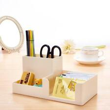 Office Home Desk Pen Pencil Holder Storage Plastic Box Stationery Organizer Hot