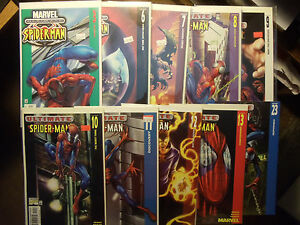 Lot of 10 comics Ultimate Spider-Man Marvel Green Goblin Electro Gwen Stacy Oz
