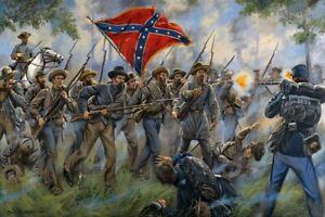 Mark Maritato Signed Civil War S/N Ltd Ed Canvas Art Print Proctor's Creek 30x20