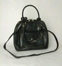 M C Purse Faux Leather Shoulder Bag Handbag Satchel Womens Fashion Black JARFF