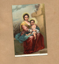 Madonna And Child  Murillo Rome Misch world galleries series1083 Art card b2