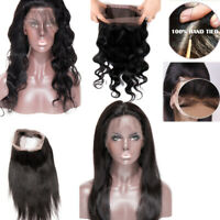 9A Brazilian Hair Lace Frontal/Closure Virgin Human Hair Straight/Wave LC Indian