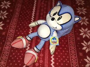 """15"""" PROTOTYPE JAKKS CLASSIC SONIC Plush SEGA 30TH Toy Doll Sample TAGGED"""