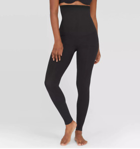 Assets by Spanx  Women's High-Waist Seamless Leggings,  BLACK, Small, S