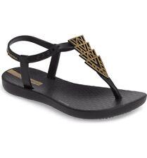 Ipanema Todler Girls Deco Sandals Black/ Black 10/11 New