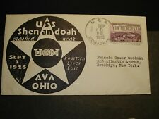 USS SHENANDOAH ZR-1 Naval Cover 1935 Airship Cachet USS MONAGHAN #773