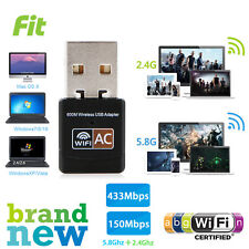 600Mbps Dual Band 2.4GHz 5GHz WiFi Adapter USB Wireless 802.11ac/a/b/g/n Dongle