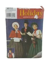 Simplicity #8910 Victorian Dickens Christmas Carol Costume Pattern A XS-XL Uncut