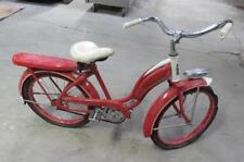 "Roadmaster Girls Bicycle tank vintage red & white bike fender headlight 20"""