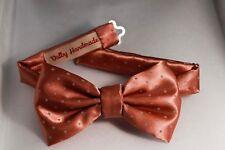 Papillon-Raso Rosa a pois bianchi-Valby Handmade-Bowties