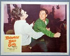 Teenage Bad Girl movie poster lobby card vtg 1956 delinquent daughter
