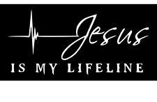 Jesus Is My Lifeline Symbol Vinyl Car Window Laptop Decal Sticker Christian