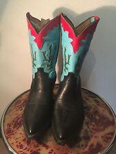 Vintage Western boots 1980s unworn nos sz 12D,handmade in texas,cactus boots.