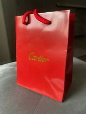 CARTIER Small 4.5 x 6 RED Store SHOPPING GIFT Paper BAG~GOLD LOGO Embossed