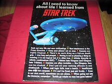 All I Need To Know About Life I Learned From Star Trek Poster 24 x 36 TOS