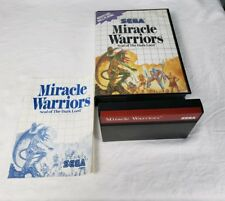 Miracle Warriors Seal of the Dark Lord Sega Master System Complete in Case