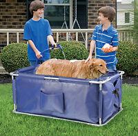 portable pet bath dog or cat walk in bathtub animals folding pet wash