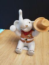 "Lenox Cowboy Up! Elephant Figurine 4 1/2"" Msrp $50 Coa Nib"