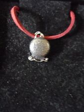 """MISTY Crystal Ball chiromante tg1 peltro inglese su 18"""" Red lung Collana"""