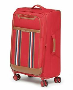 """$325 Tommy Hilfiger Hartford 25"""" Check-In Luggage Suitcase Red Spinner"""