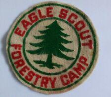"VINTAGE BOY SCOUTS PATCH 1940's EAGLE SCOUT FOREST CAMP 4 1/2"""