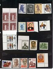 INDIA--Lot 26 Stamps (Block of 4 `, Pair, and Individual Stamps from thelate 197