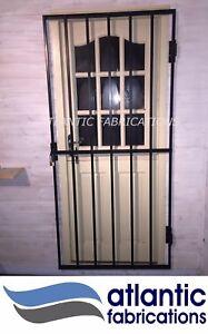 Steel security door / gate 2m x 1.1m powder coated black