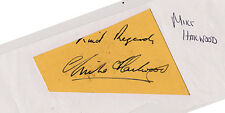 Signed Postcard - Mike Hailwood Original Signature