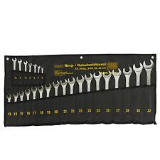 Maulschlüssel Ringschlüssel Gabelschlüssel   aus CV matt  25 tlg 6 - 32   910893