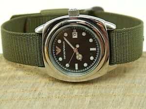 Ladies  New Old Stock Georgio Emporio Armani AR 5107 Military Styled Wrist Watch