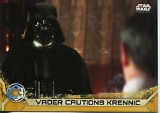 Star Wars Rogue One Series 2 Gold Base Card #38 Vader Cautions Krennic