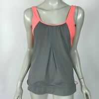 Lululemon No Limits Tank Top Coral Gray Built-in Bra Yoga Run Workout Women 4
