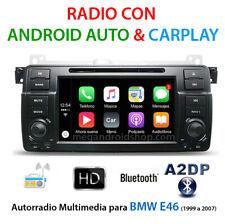 "Radio con CarPlay y Android Auto para BMW E46 Serie 3 de 1999 a 2007 Pantalla 7"""