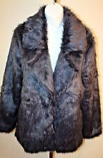 Somedays Lovin Womens Ladies Hocus Navy Dark Blue Faux Fur Winter Jacket Coat M