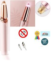 Women's Painless Electric Eyebrow Hair Remover Brows Trimmer Epilator Pink