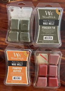 WoodWick Highly Fragranced Wax Melt~Pumpkin Butter-2 Frasier Fir-Cinnamon Chai